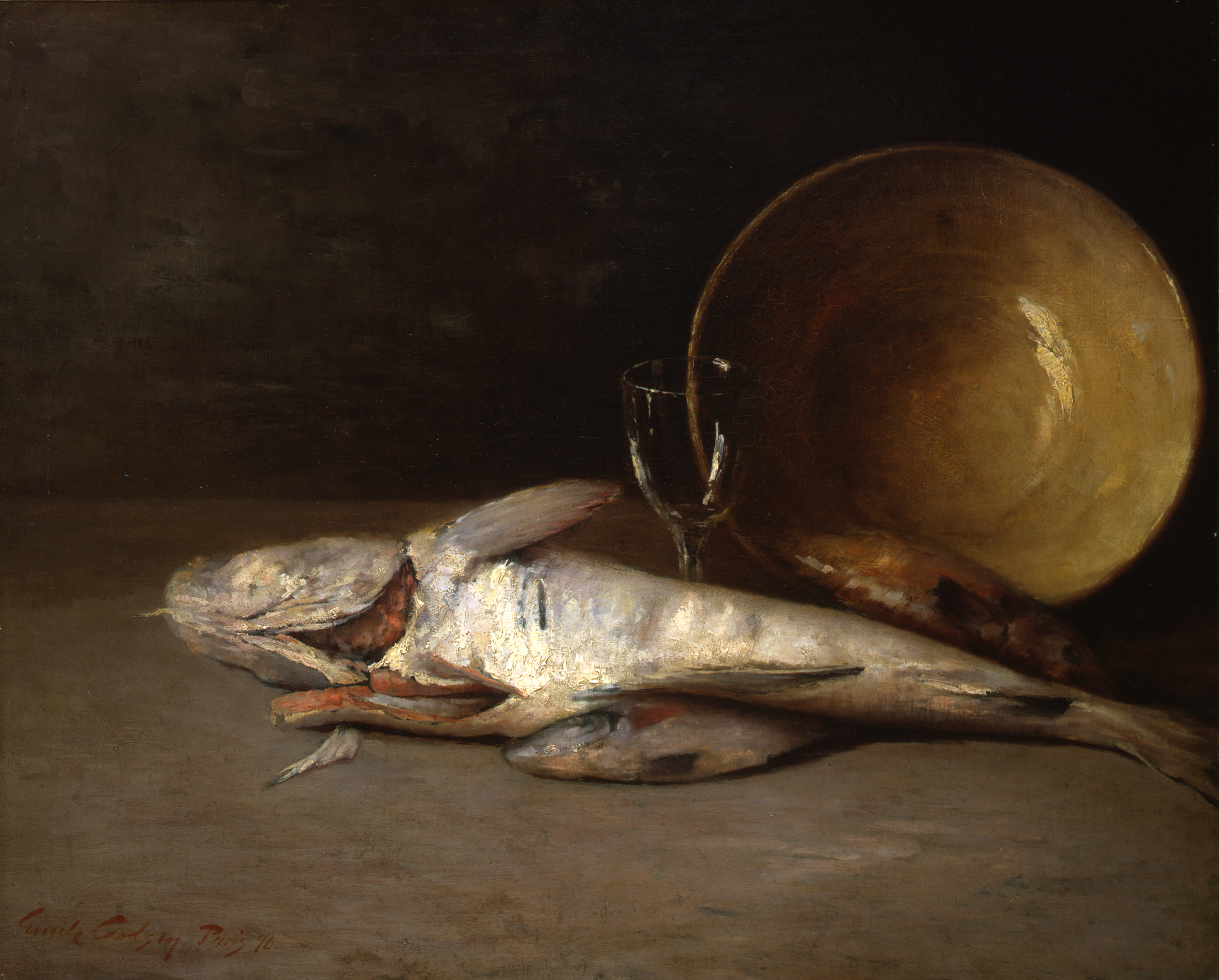 Emil Carlsen Fish And Copper Bowl 1890